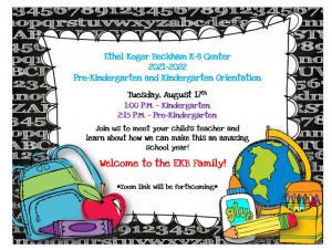 Kindergarten Orientation @ Zoom